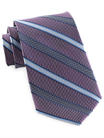 Gold Series Designed in Italy Dot Stripe Silk Tie