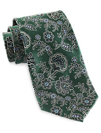 Gold Series Designed in Italy Floral Silk Tie