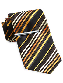 Traveler Technology™ Alice Stripe Tie with Tie Bar
