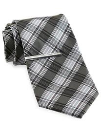 Traveler Technology™ Lauren Plaid Tie with Tie Bar