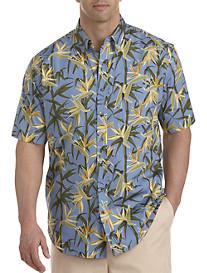 Harbor Bay® Leaf Print Sport Shirt