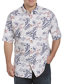 Harbor Bay® Americana-Print Sport Shirt
