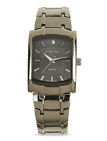 Synrgy™ Gunmetal Square-Face Watch