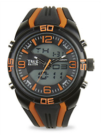 True Nation® Anadigit Silicone Watch