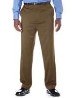 Gold Series Continuous Comfort™ Flat-Front Sateen Pants