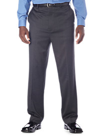 Gold Series Continuous Comfort™ Flat-Front Sateen Pants--Unhemmed