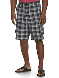 True Nation® Plaid Ripstop Cargo Shorts