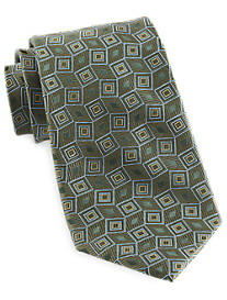 Gold Series Designed in Italy Grid Silk Tie