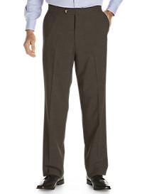 Sansabelt® Bengaline Flat-Front Trousers