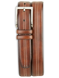 Harbor Bay® Center-Stitched Leather Belt