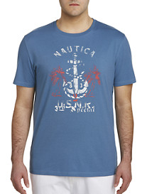 Nautica Anchor and Palm Trees Tee