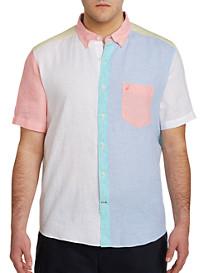 Nautica Pieced Linen Sport Shirt