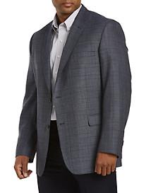 Jean -Paul Germain Textured Windowpane Sport Coat--Executive Cut