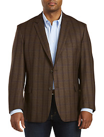 Jean-Paul Germain Wool Windowpane Sport Coat