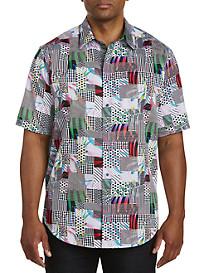 Robert Graham DXL Multi Geo Print Sport Shirt