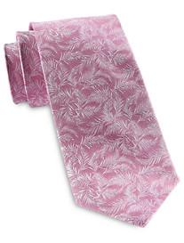Michael Kors White Palm Leaves Silk Tie