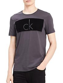 Calvin Klein Jeans® Knockout Flocked Logo Graphic Tee