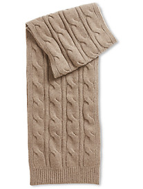 Paul Stuart Cable-Knit Cashmere Scarf