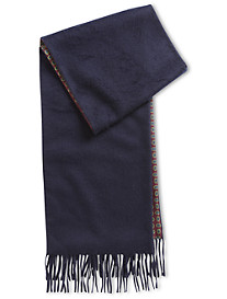 Paul Stuart Reversible Cashmere/Printed Silk Scarf