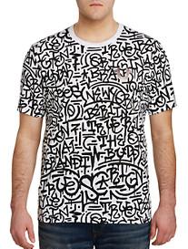 True Religion Graffiti Print Tee