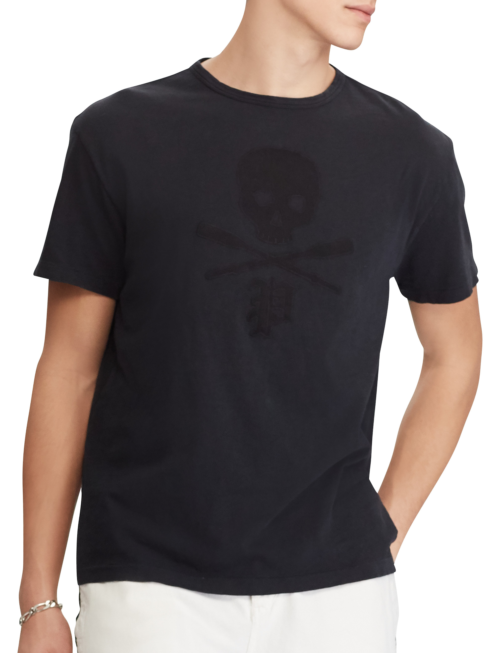 Polo Ralph Lauren Skull And Bones Graphic Tee | Tuggl