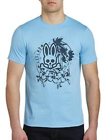 Psycho Bunny Tropical Bunny Graphic Tee