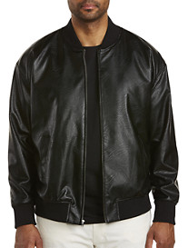 MVP Collections Perforated Bomber Jacket
