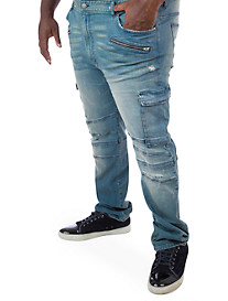 MVP Collections Zippered Cargo Jeans