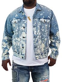 MVP Collections Paint-Splattered Trucker Jacket