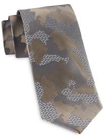 Michael Kors Camo & Logo Silk Tie