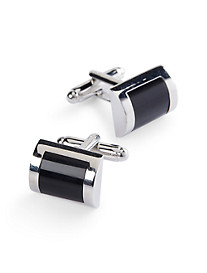 Jan Leslie Square Stone Cuff Links
