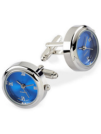 Jan Leslie Blue Watch Cuff Links