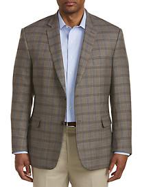 Jean-Paul Germain Deco Windowpane Wool Sport Coat-Executive Cut
