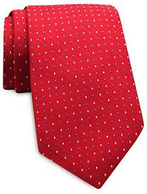 Keys & Lockwood Alternating Dot Silk Tie