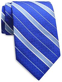 Keys & Lockwood Rep Stripe Silk Tie