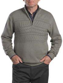 Cutter & Buck® Delmar Cable Half-Zip Pullover