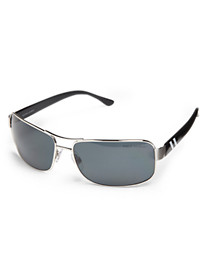 Polo Ralph Lauren® Shiny Black Metal Frame Sunglasses