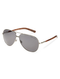 Polo Ralph Lauren® Silver Metal Frame Sunglasses