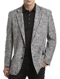 Tallia Orange Linen-Blend Matka Sport Coat