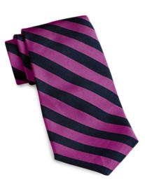 Keys & Lockwood Woven Repp Stripe Tie