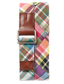Brooks Brothers® Rustic Madras Patchwork Belt