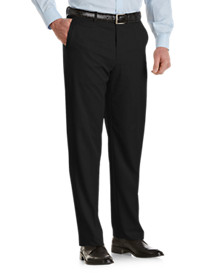 Ballin Nano Microfiber Flat-Front Dress Pants