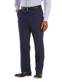 Tallia Orange Flat-Front Linen Trousers
