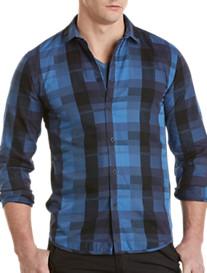 Calvin Klein Jeans® Long-Sleeve Exploded Plaid Sport Shirt