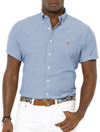 Polo Ralph Lauren® Short-Sleeve Solid Chambray Sport Shirt