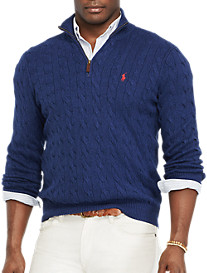 Polo Ralph Lauren® Silk Cable Half-Zip Sweater
