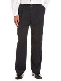Tommy Hilfiger® Pleated Wool Gabardine Trousers (Hemmed)