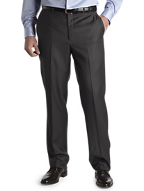 Santorelli Flat-Front Luxury Dress Pants