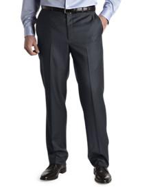 Santorelli Flat-Front Luxury Dress Pants