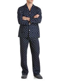 Derek Rose™ Sailboat Steering Wheel Print Pajama Set